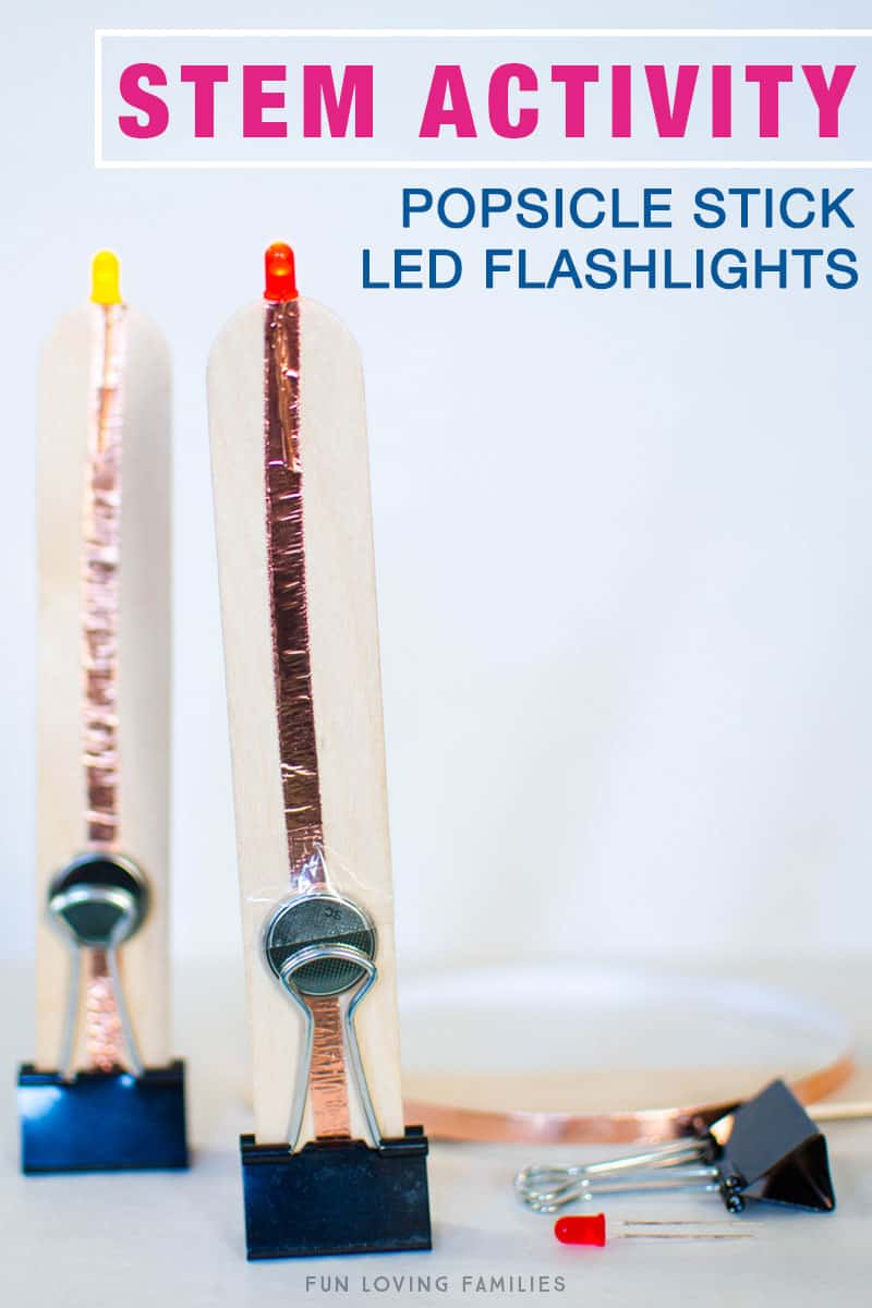 Deceptively Easy Popsicle Stick Flashlights