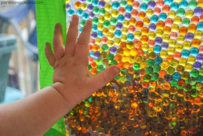Stained Glass with Water Beads