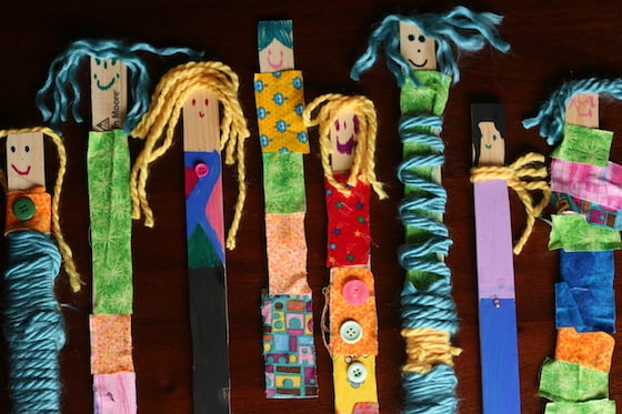 Paint Stir Stick Puppets