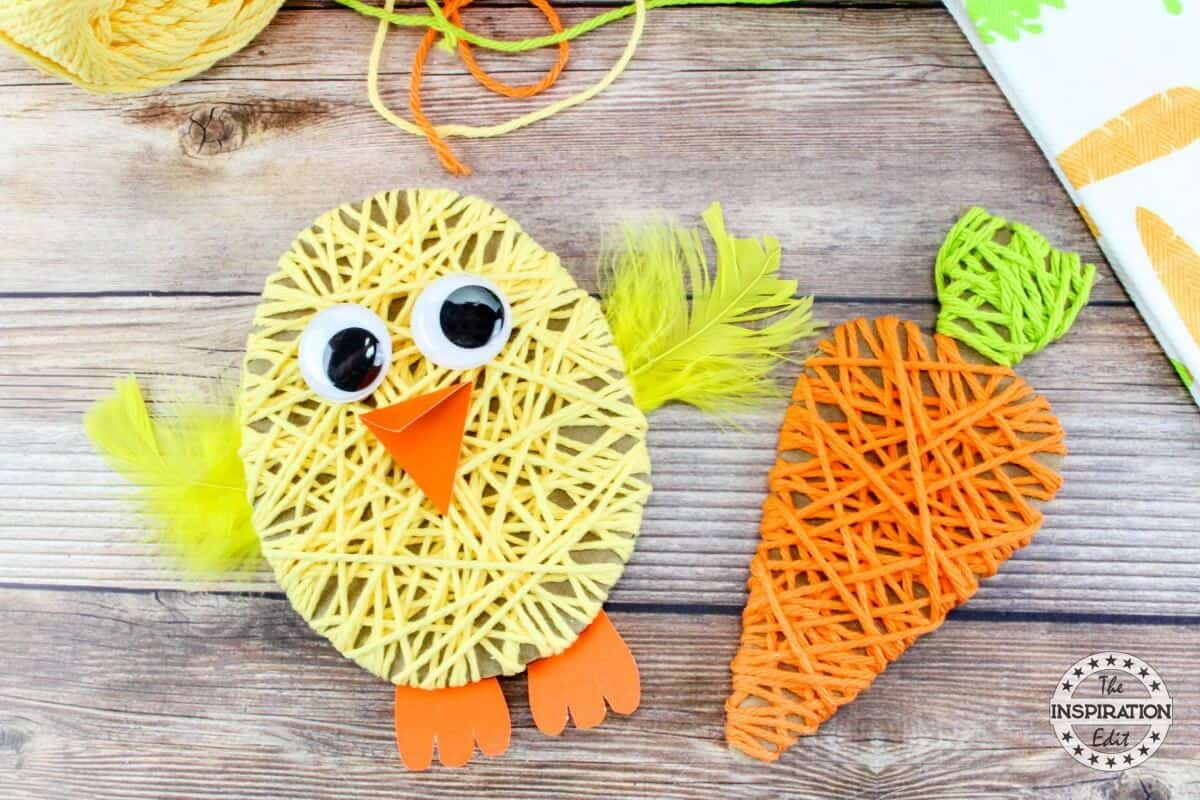 Yarn Wrapped Easter Chick
