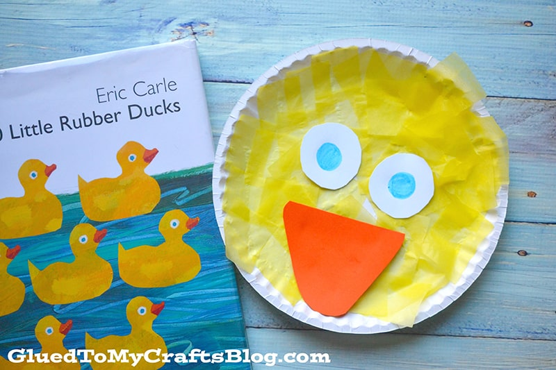 Simple Paper Plate Duck Face