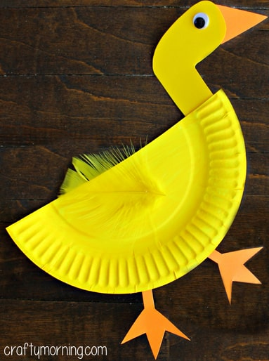 Yellow Duck From A Paper Plate