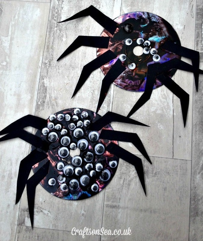 Old School CD Spider Craft