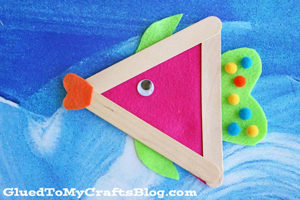 Felt And Wood Fish Craft