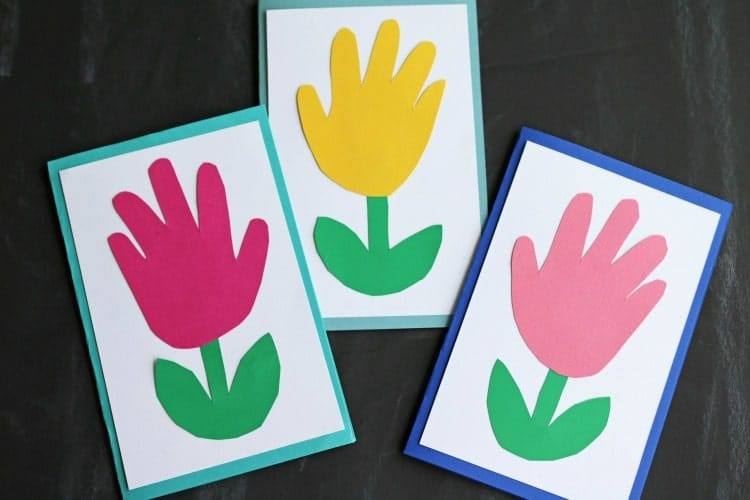 Handprint Keepsake Flower Craft
