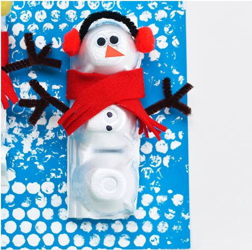 Do You Want To Build An Egg Carton Snowman?