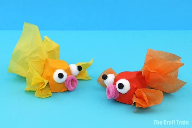Goldfish Egg Carton Craft