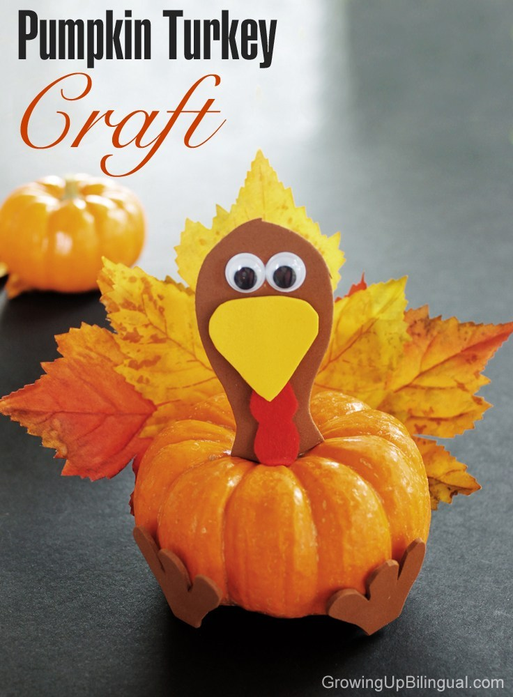 Mini-Pumpkin Thanksgiving Craft